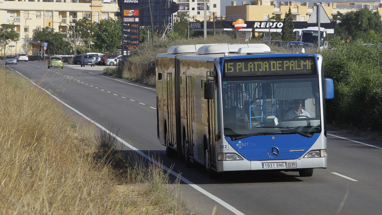 Un bus de l'EMT de Palma.