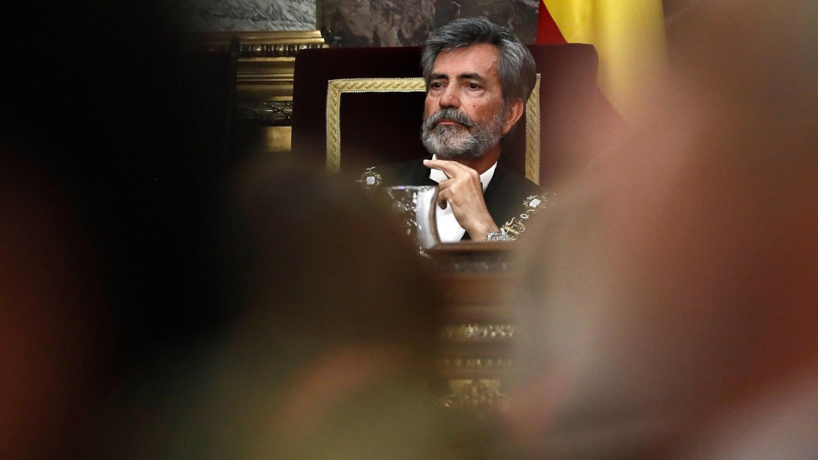 El president del CGPJ i del Tribunal Suprem, Carlos Lesmes, durant l'acte d'obertura de l'any judicial de l'any passat.