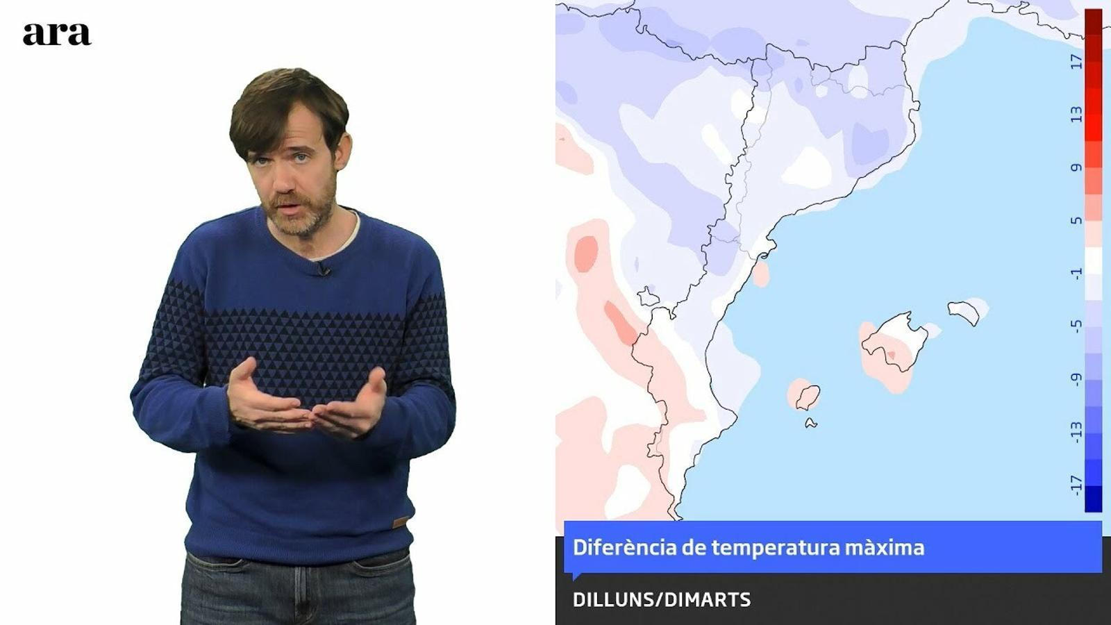 La méteo: un canvi de temps provocarà pluges minses i migdies més hivernals