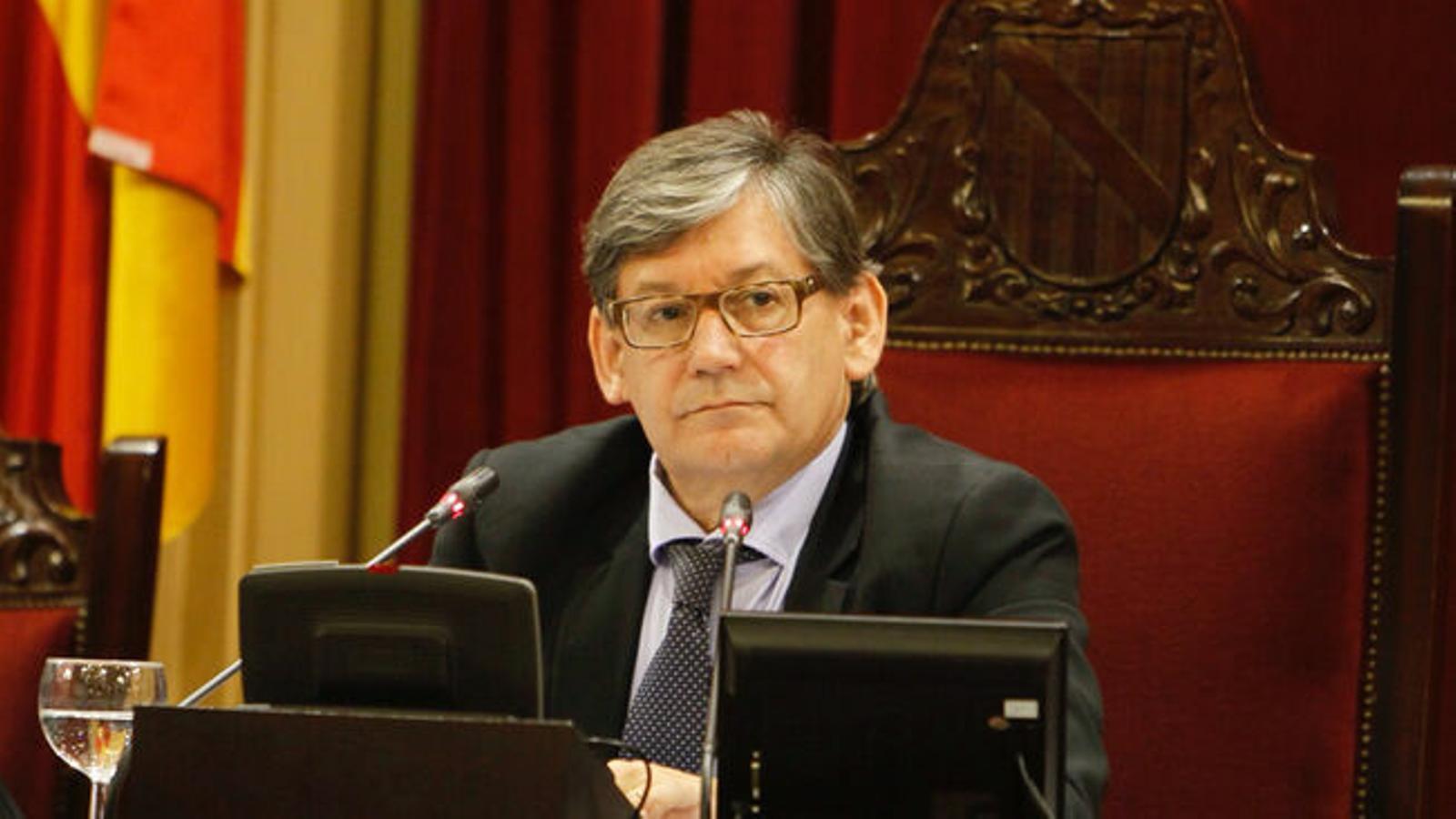 El president del Parlament, Vicenç Thomàs, en una imatge d'arxiu