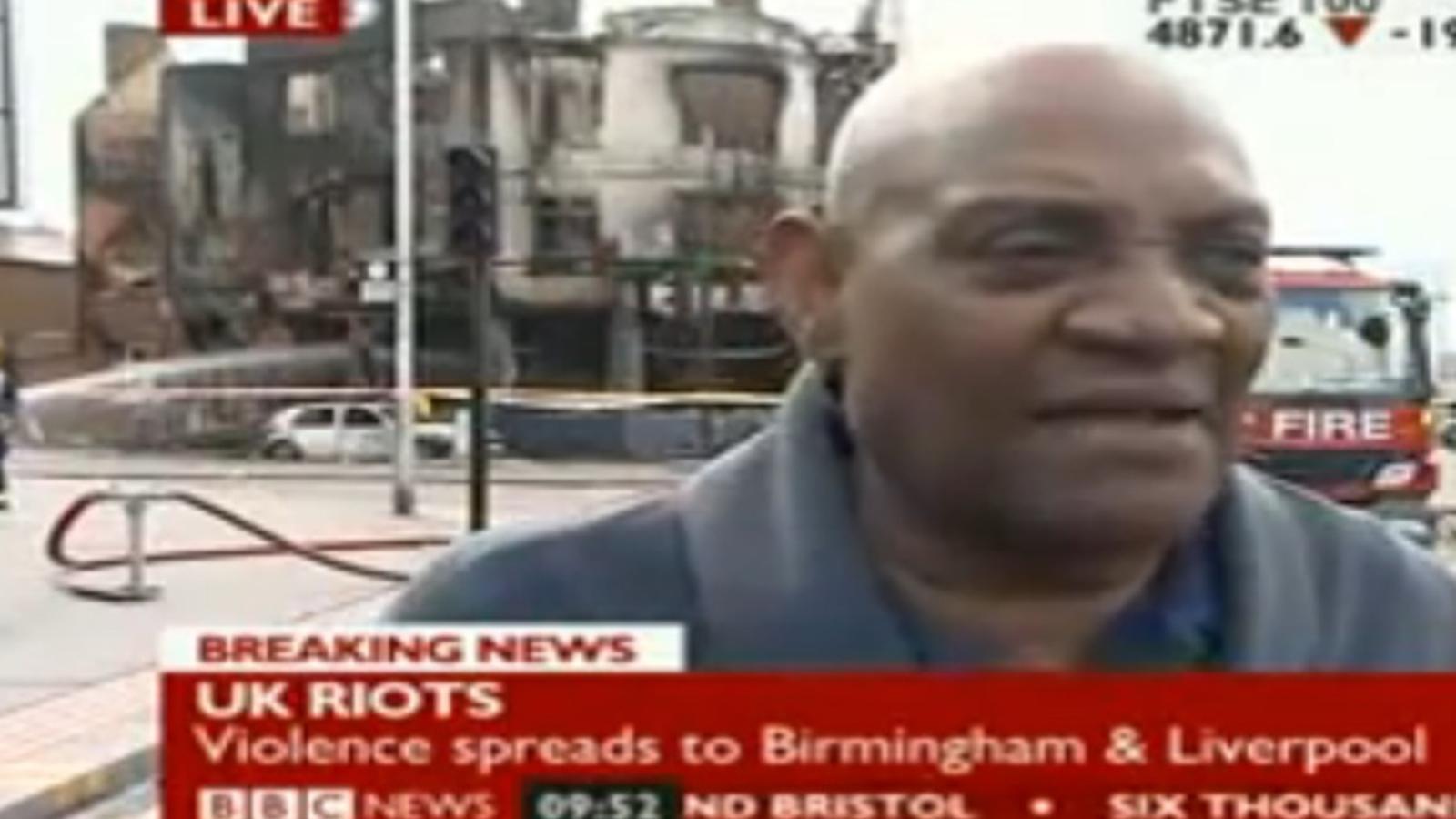 Activista negre a periodista de la BBC, en directe: Una mica de respecte per a un vell negre de les Índies Occidentals