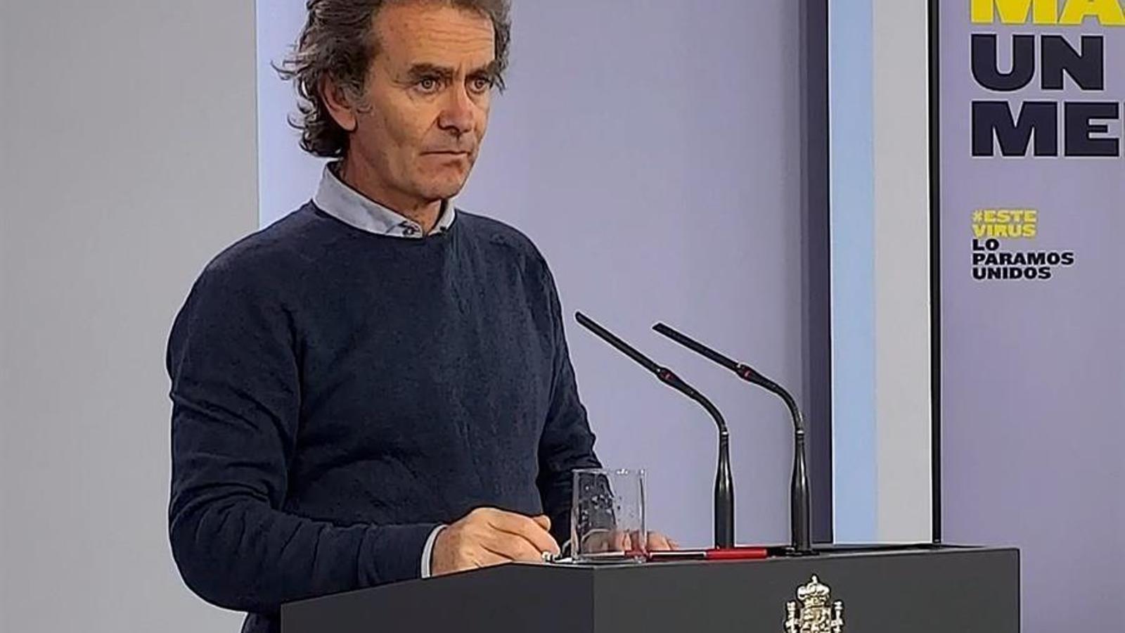 Roda de premsa del responsable tècnic de Sanitat, Fernando Simón