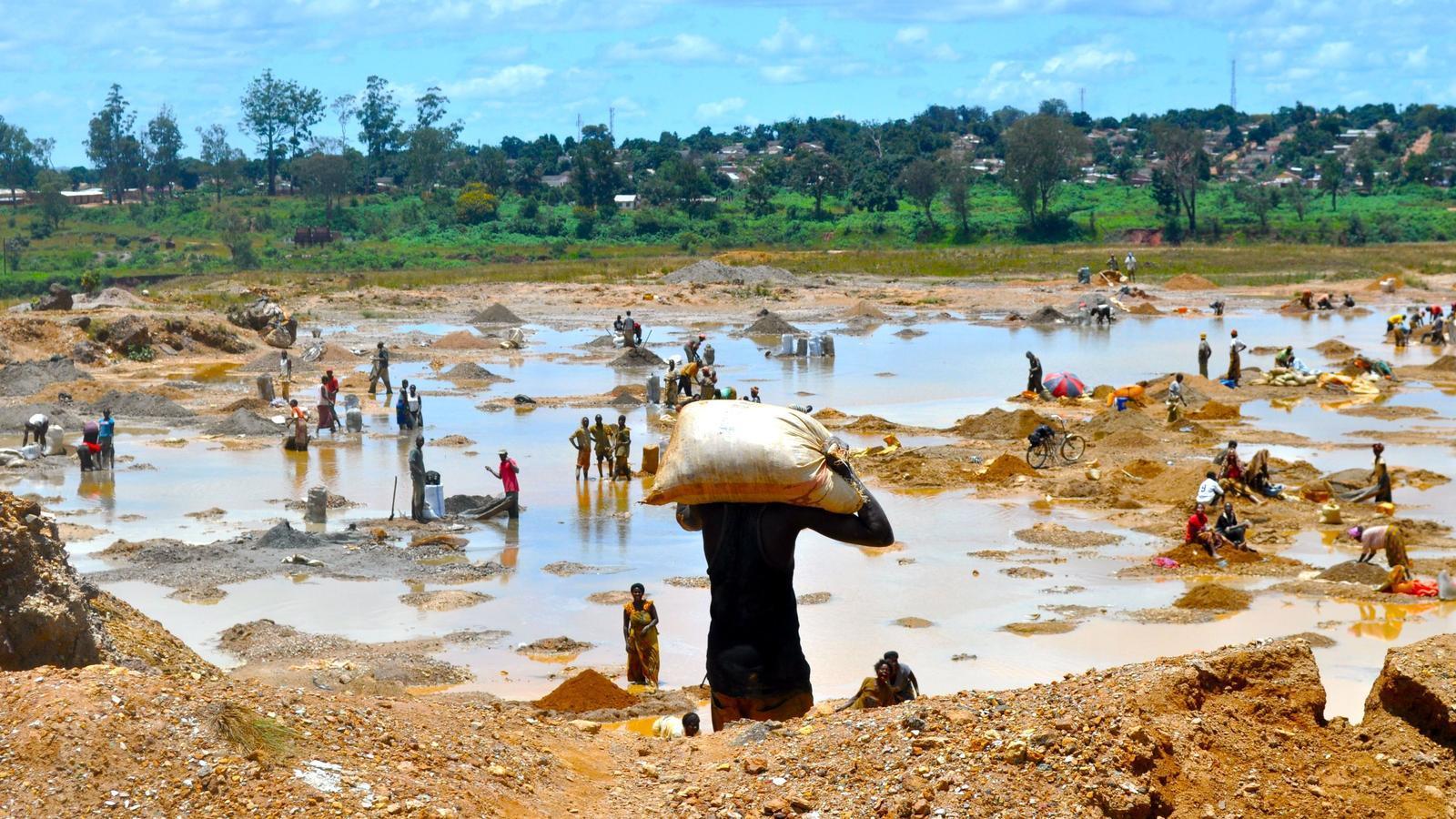 Netejant el coure al Congo