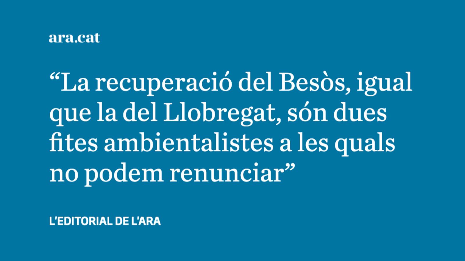 Qui es responsabilitzarà del desastre ambiental al Besòs?