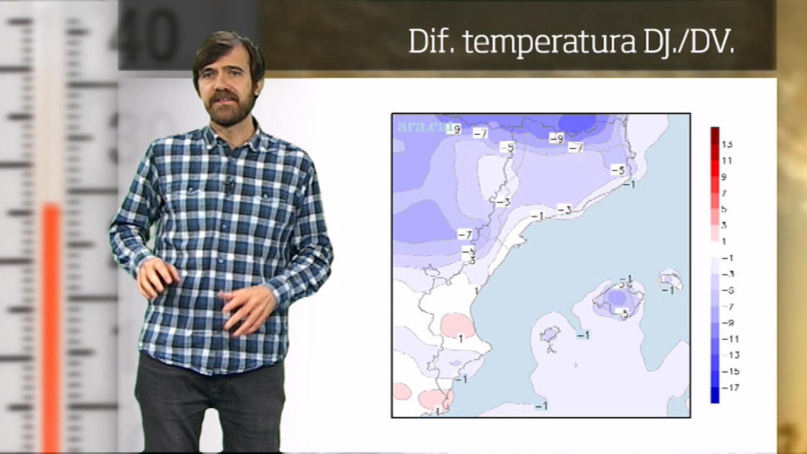 La méteo en 1 minut: cap de setmana amb entre 4 i 7 graus menys