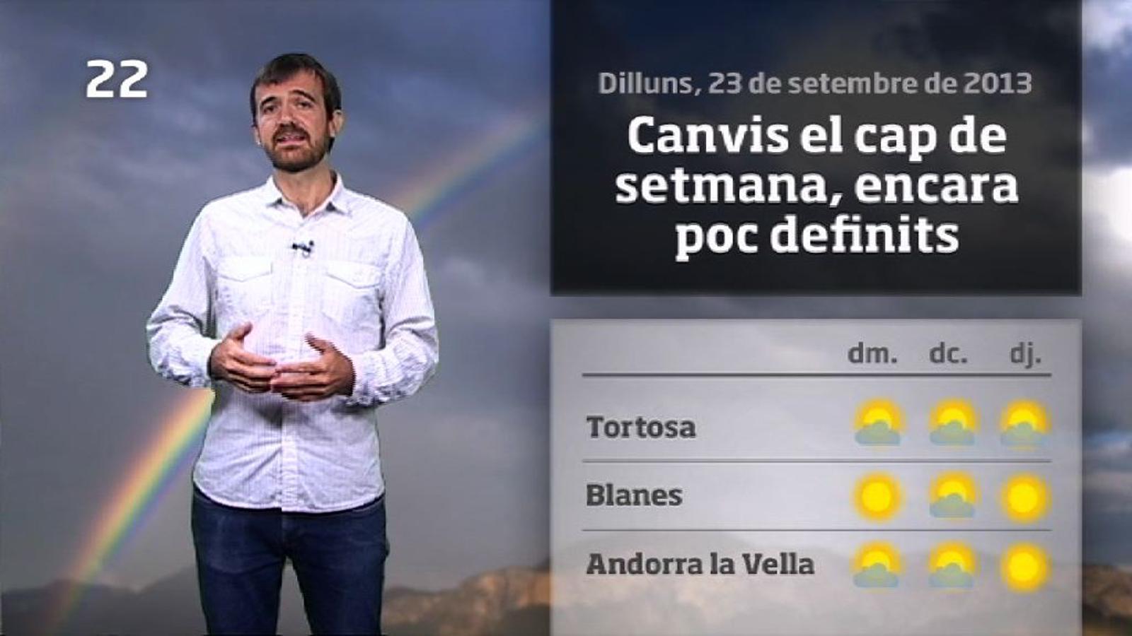 La méteo en 1 minut: temperatures d'estiu i núvols costaners (24/09/2013)