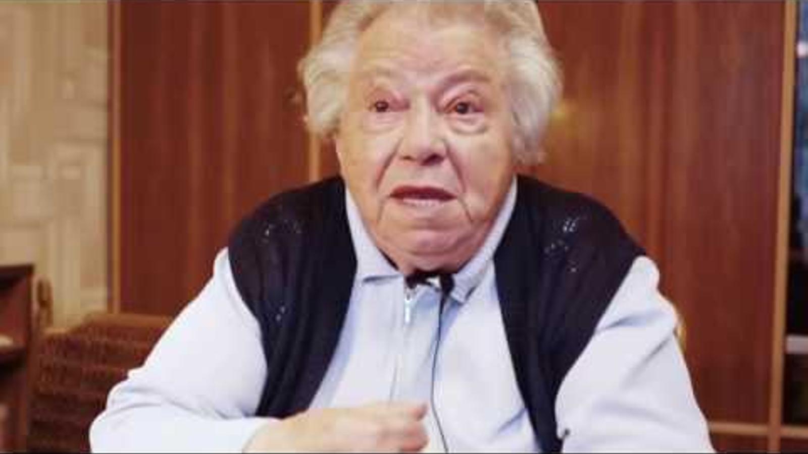 Frau Gertrude, supervivent de l'holocaust de 890 anys, demana aturar la ultradreta a Àustria.