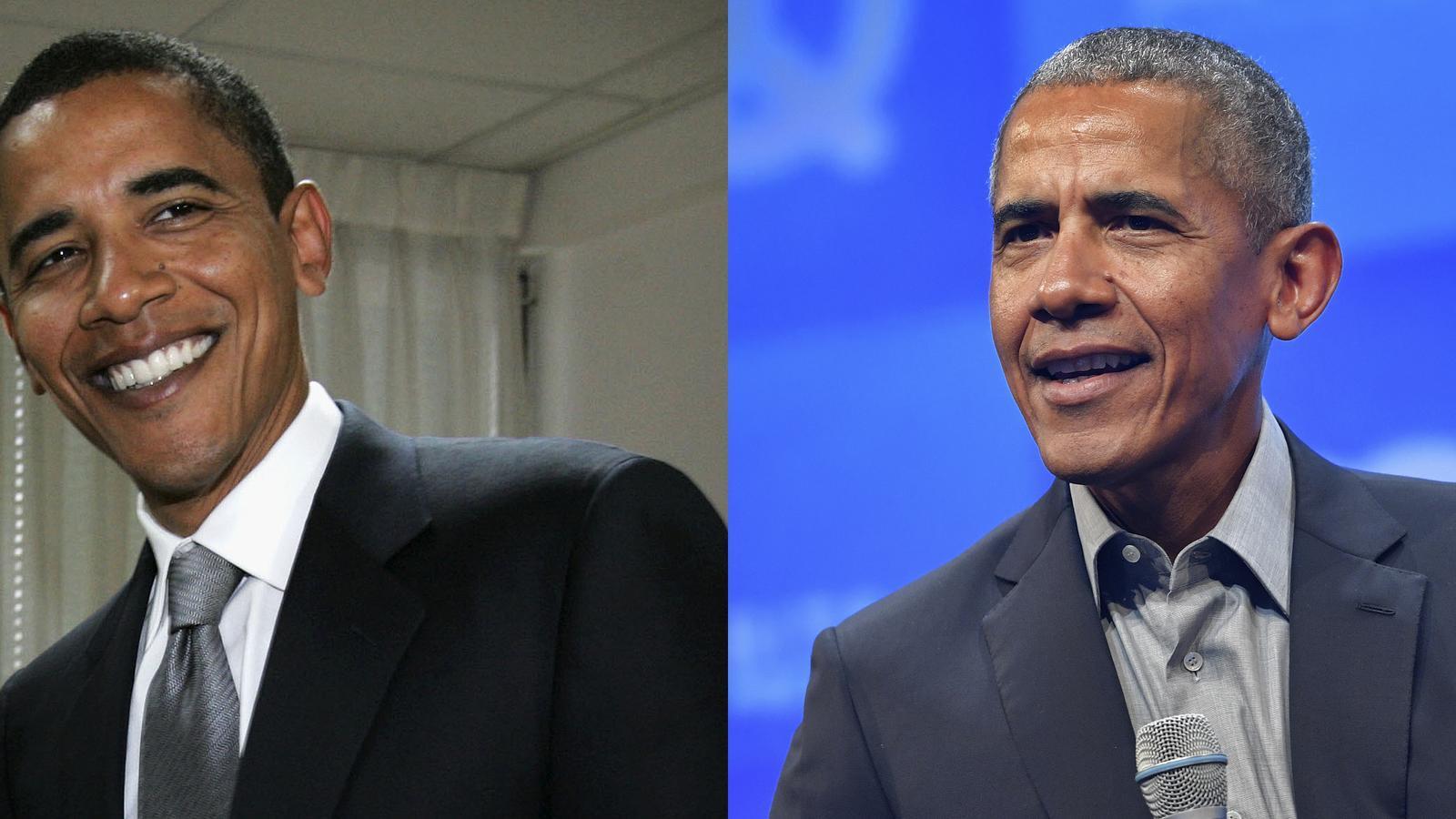 L'expresident Obama, sense i amb canes