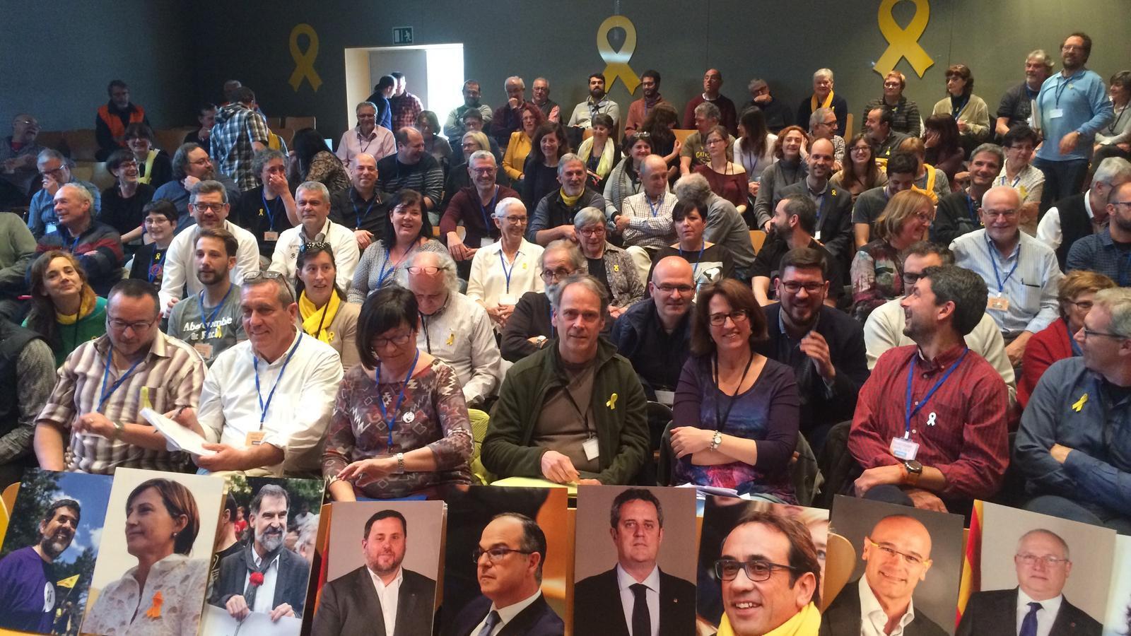 El secretariat nacional de l'ANC, reunit a Sant Cugat del Vallès