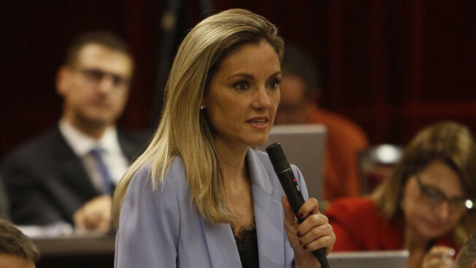 La diputada de Ciutadans, Patrícia Guasp, durant una intervenció al Parlament. / ISAAC BUJ