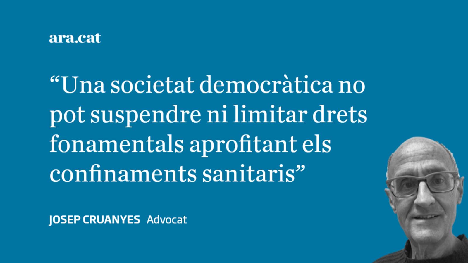El covid-19 i la llibertat d'expressió i manifestació