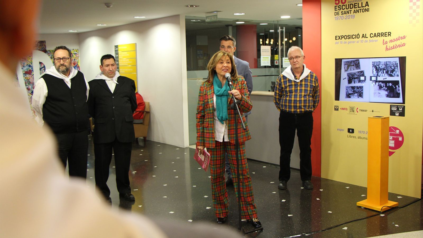 La cònsol major d'Andorra la Vella, Conxita Marsol, durant la presentació de l'exposició d'aquest dimarts.