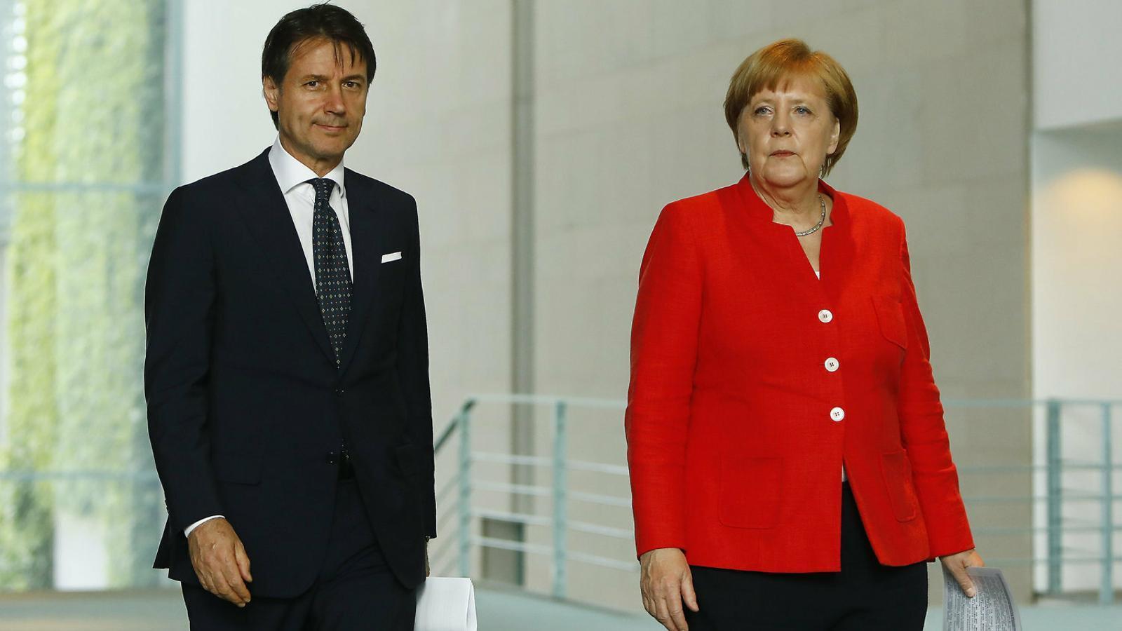 Imatge d'arxiu de Conte i Merkel. Ahir es van enfrontar en una cimera virtual.