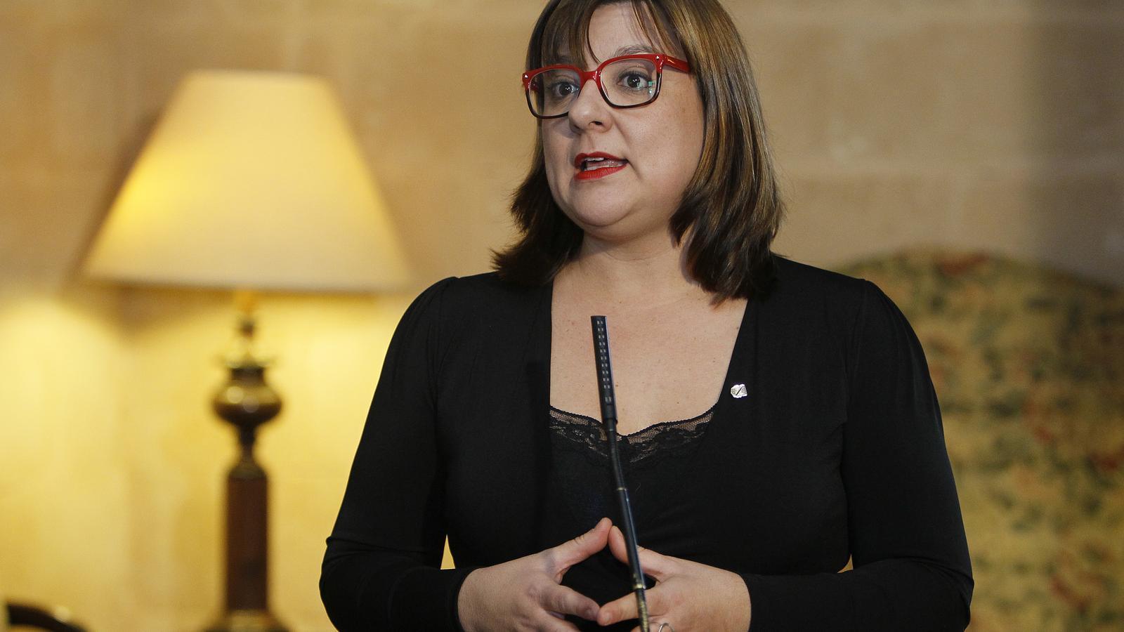 Bel Busquets després de ser nomenada consellera de Turisme.