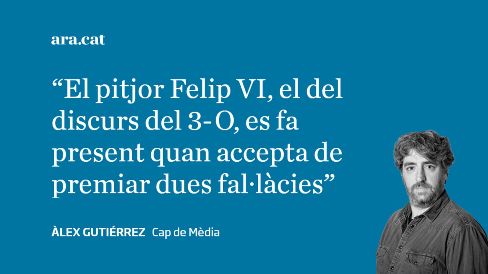 El curiós (i hostil) criteri editorial de Felip VI