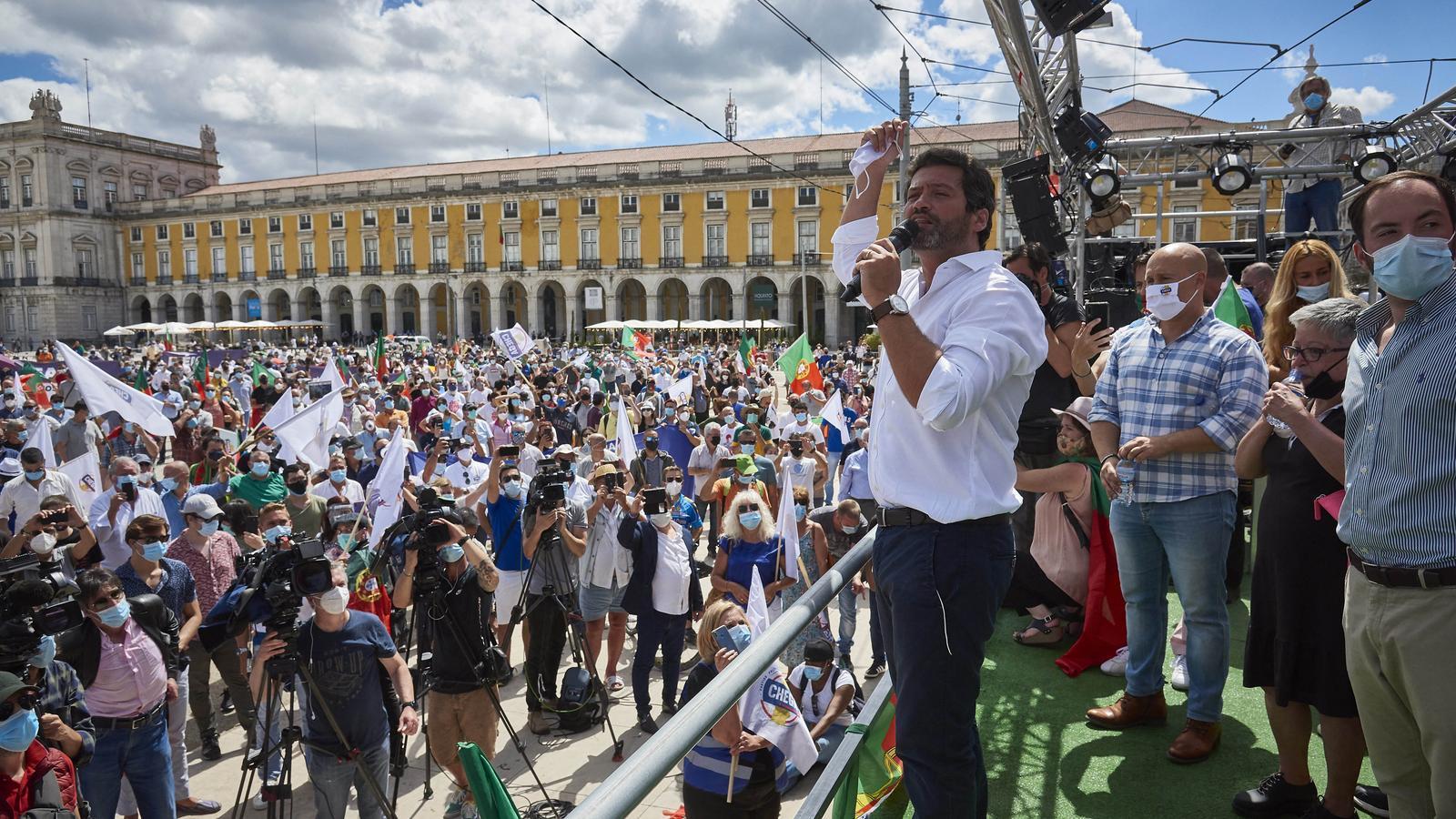 André Ventura, líder del partit d'extrema dreta Chega!
