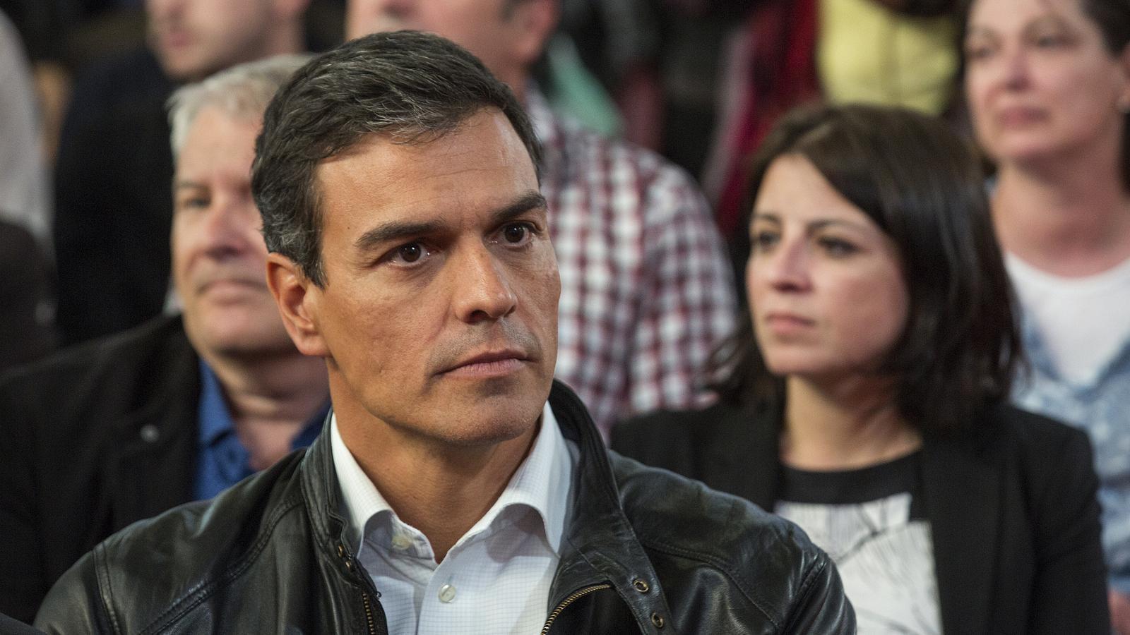 Pedro Sánchez dona suport a Sant Llorenç