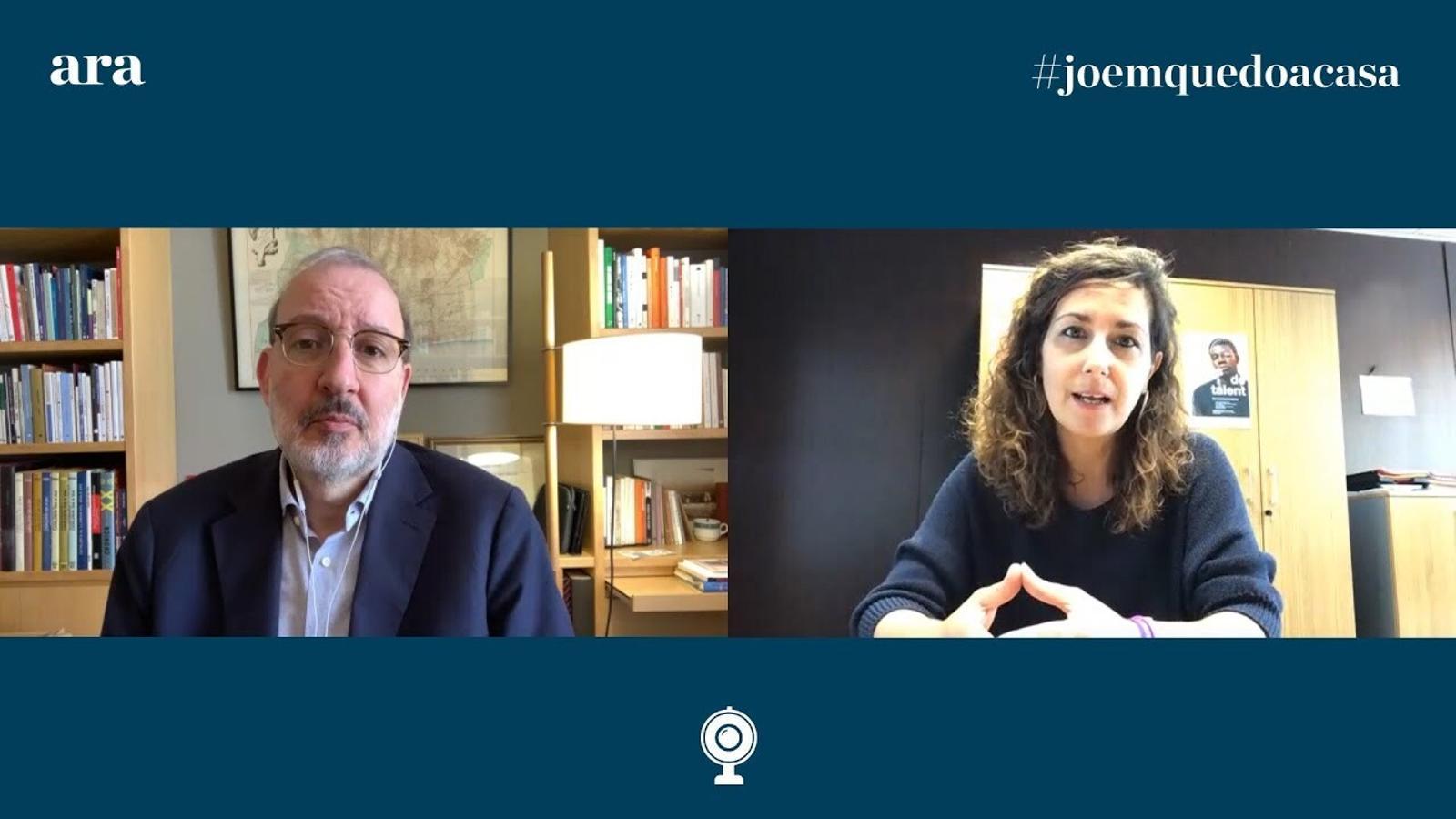 Antoni Bassas entrevista a la secretària d'Infància, Adolescència i Joventut de la Generalitat, Georgina Oliva