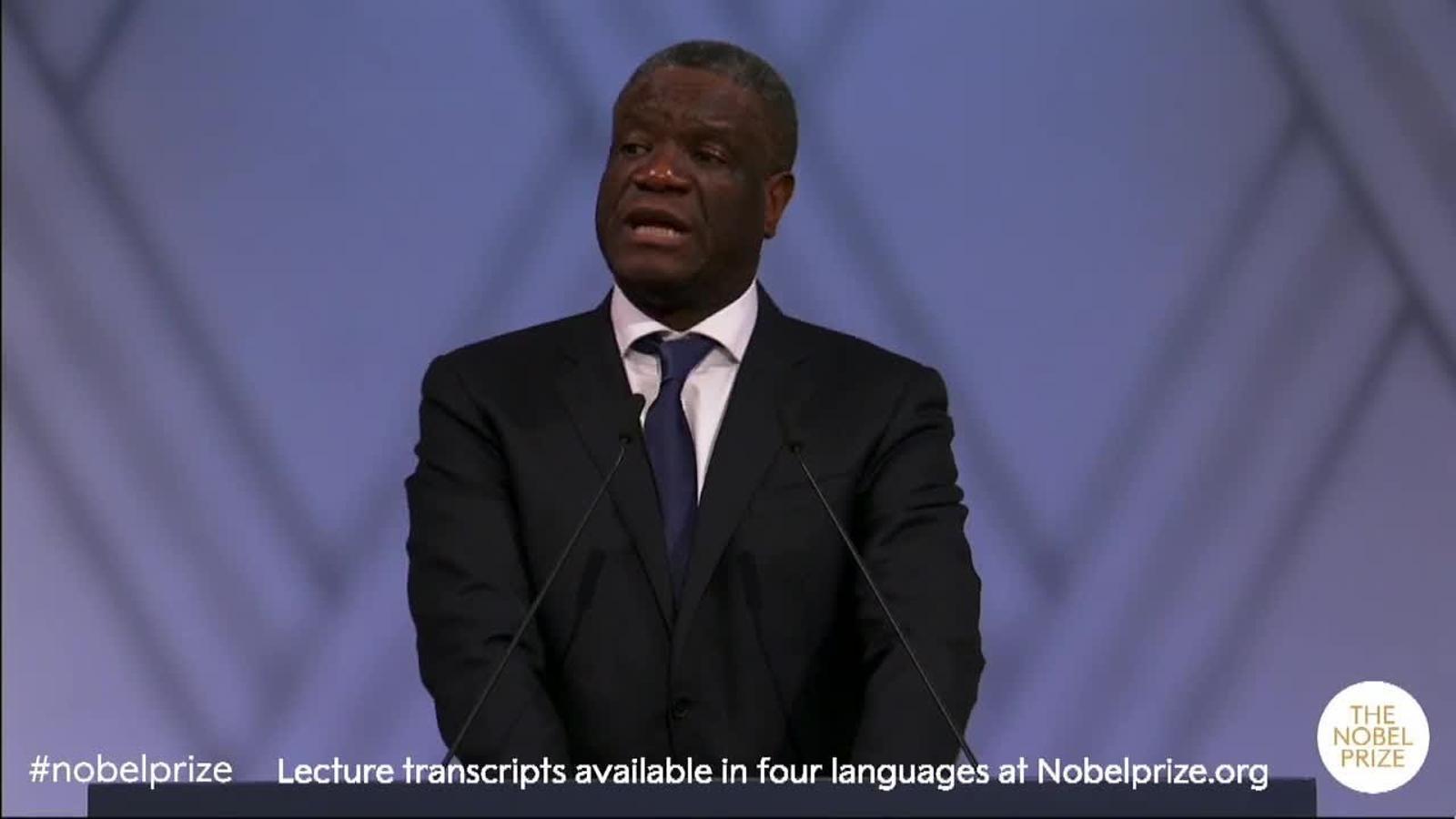 """Denis Mukwege: """"No només són responsables els autors de la violència, també els que miren cap a una altra banda"""""""