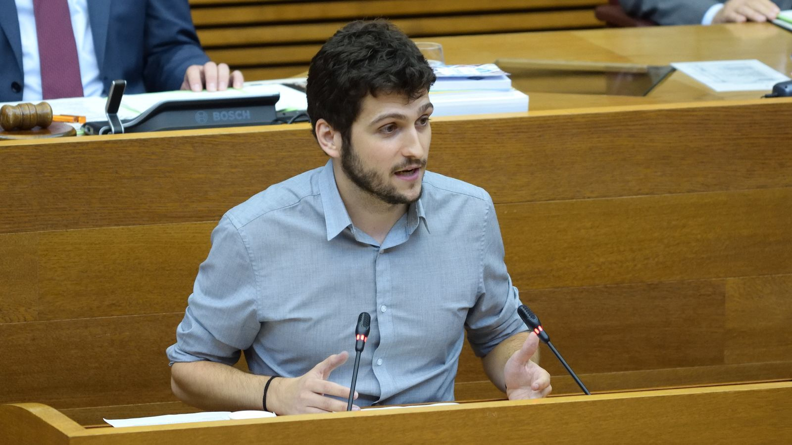El secretari general i portaveu de Podem a les Corts Valencianes, Antonio Estañ