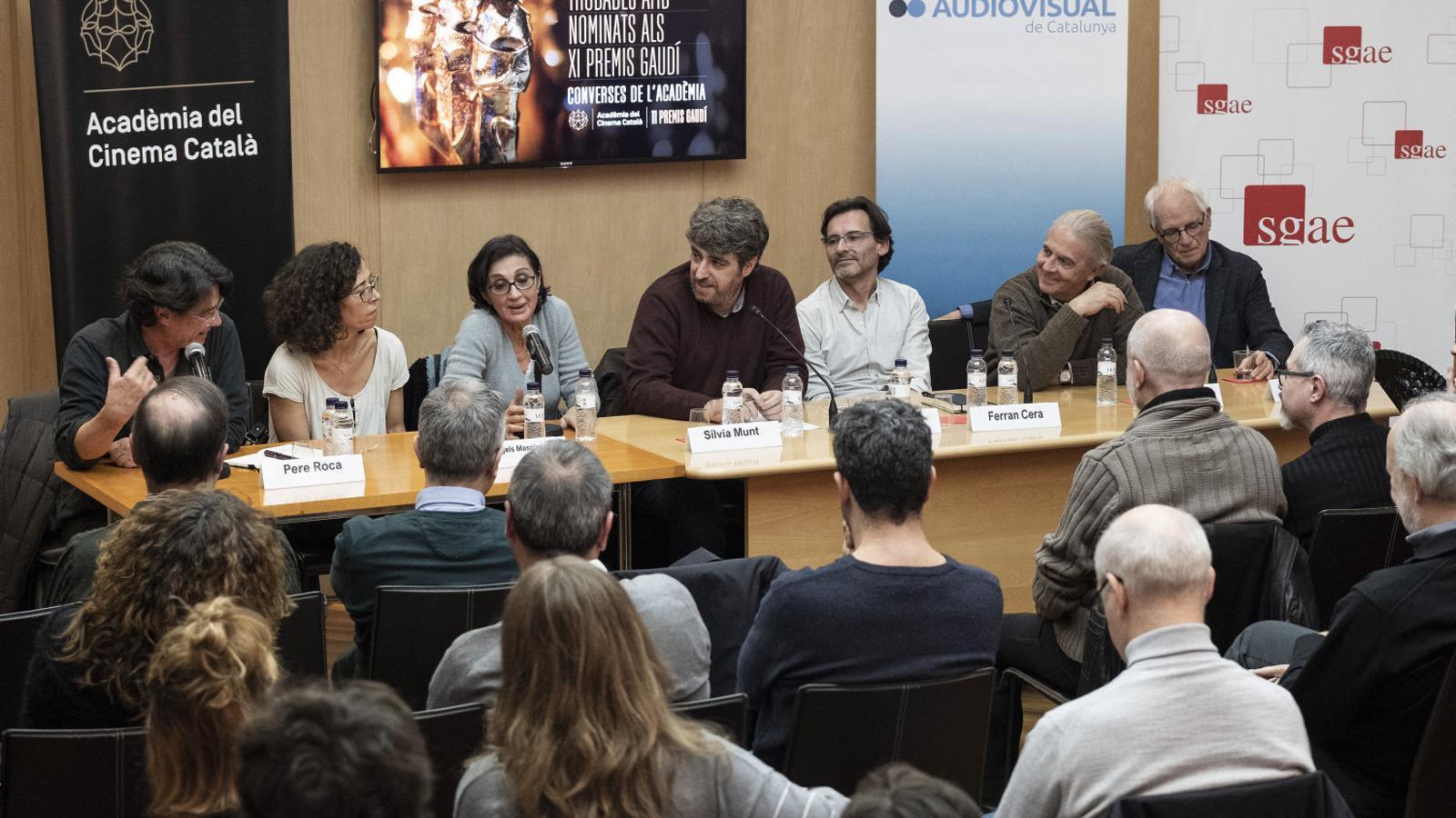 La xerrada va reunir productors i directors dels quatre nominats als premis Gaudí en la categoria de telefilm.