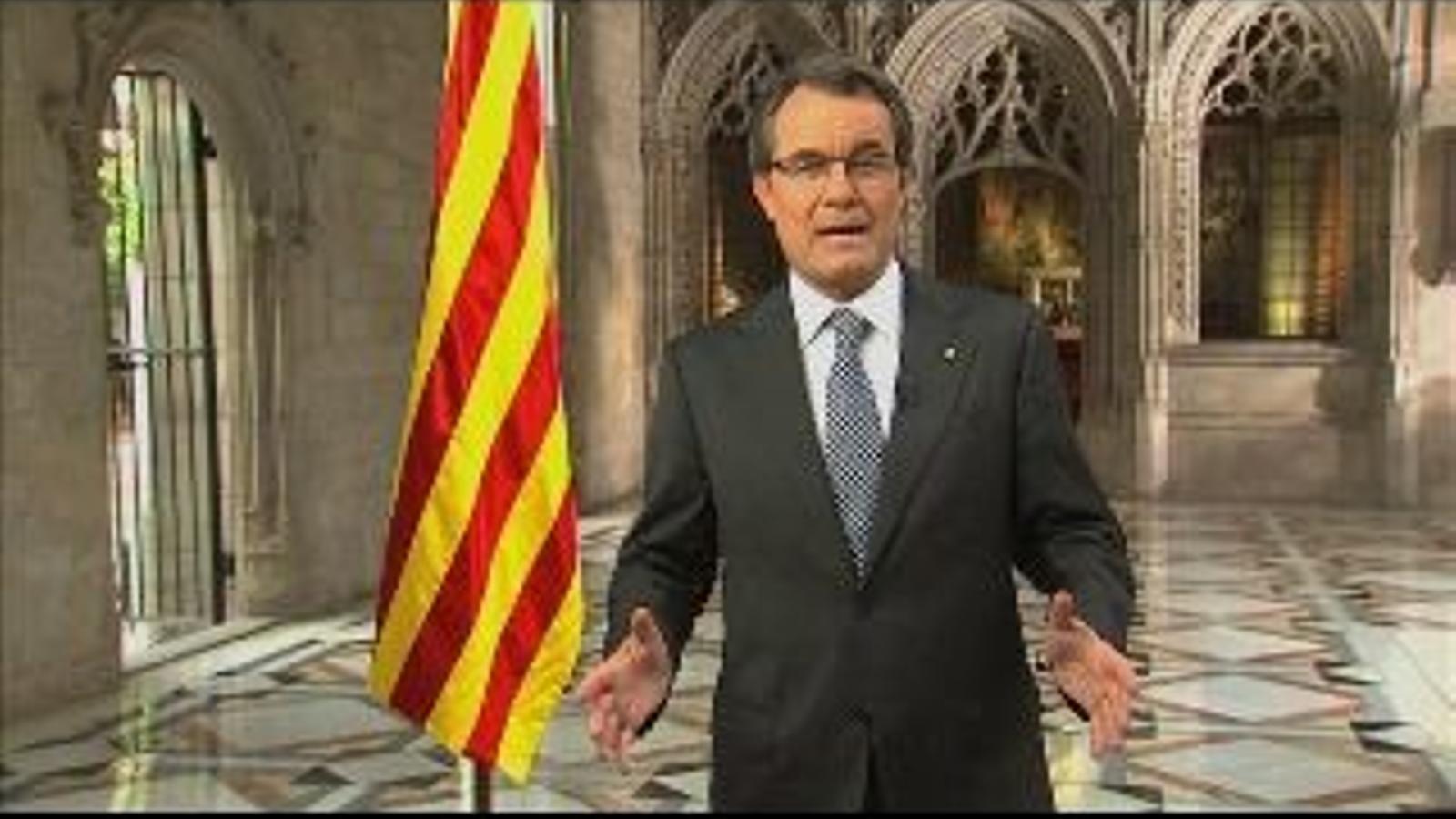 Missatge del president de la Generalitat, Artur Mas, per la Diada de 2012