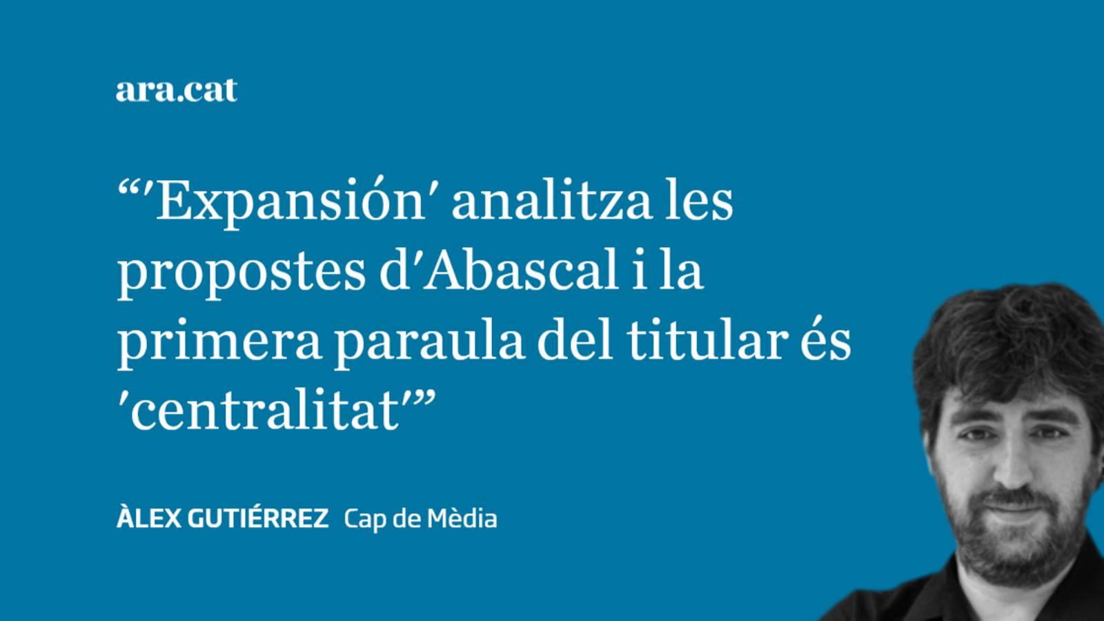 El diner espanyol situa Santiago Abascal al centre