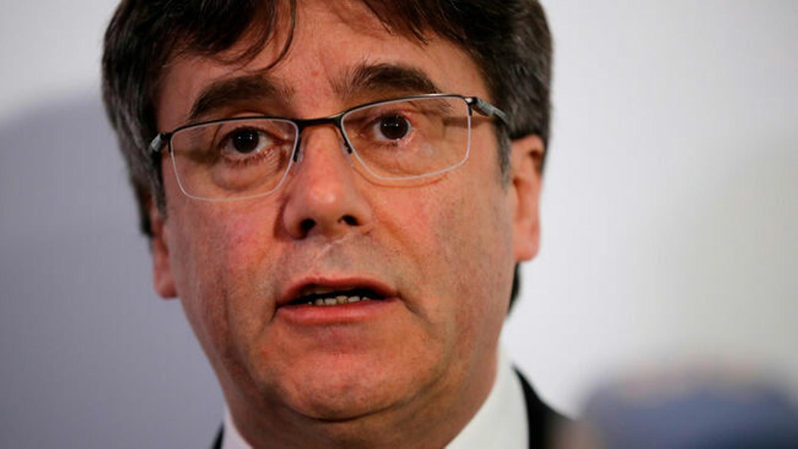 Puigdemont va gravar una declaració institucional abans de l'1-O per si era detingut
