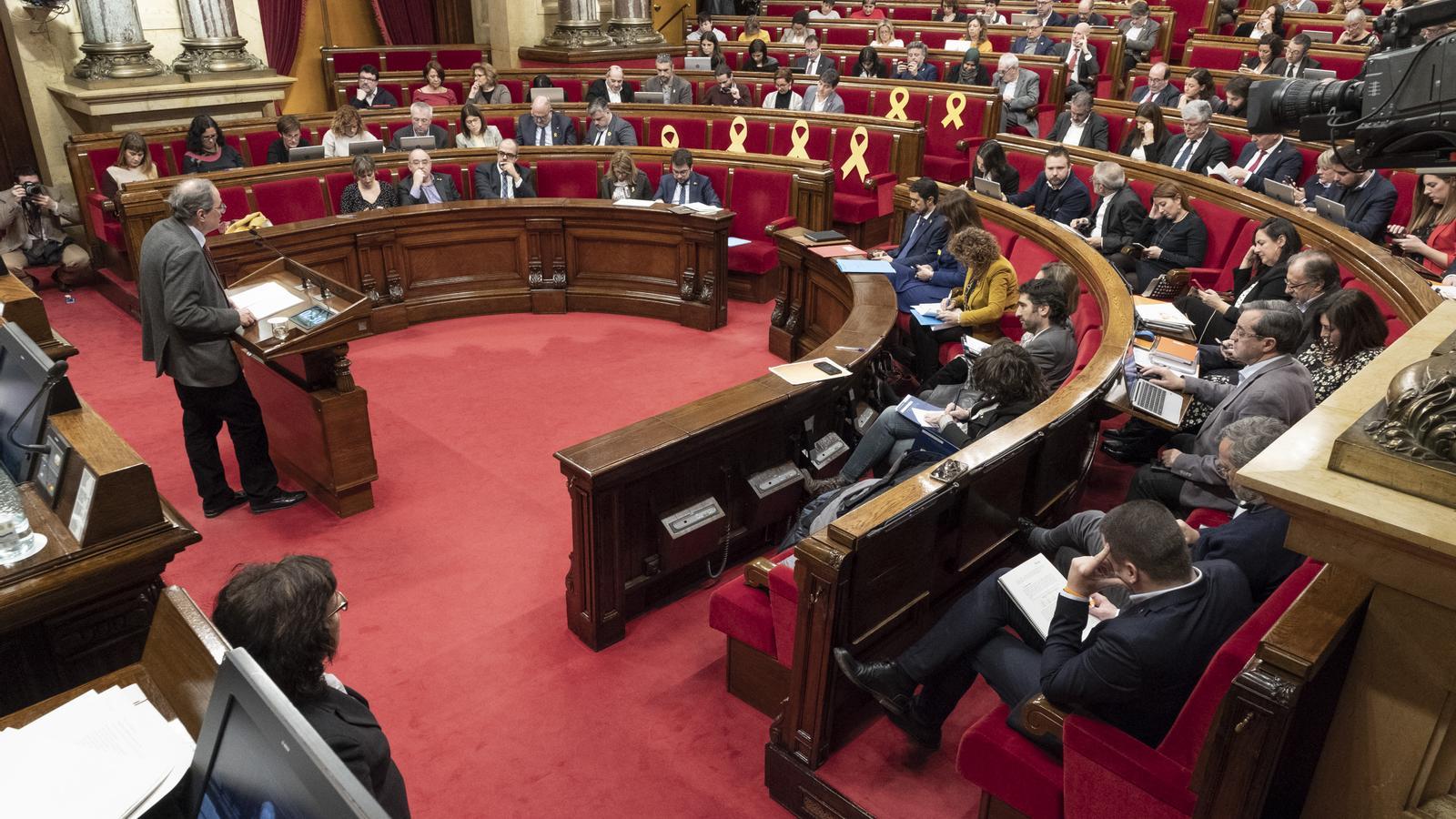 EN DIRECTE: El president Torra compareix al Parlament