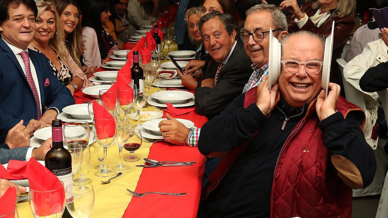 L'humorista Arévalo a un acte de Vox a Lloret.