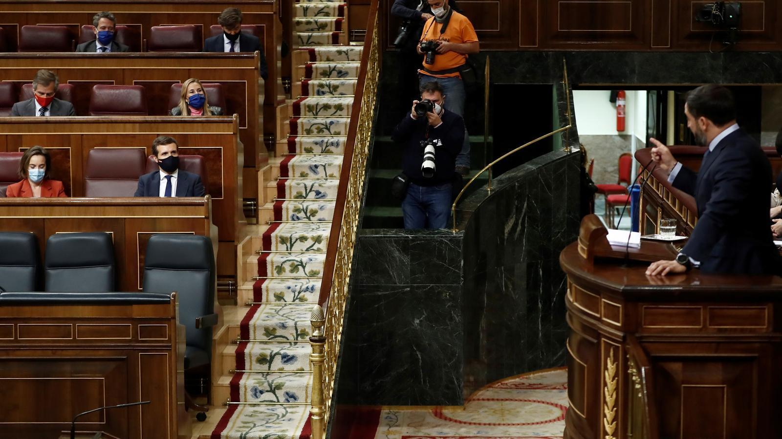 La moción fallida de Vox escenifica el divorcio de la derecha española