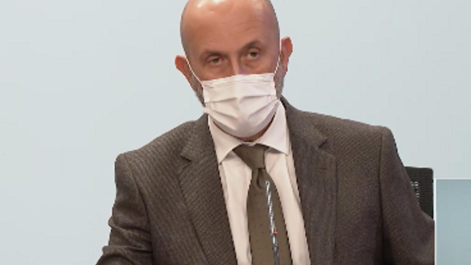 El ministre de Salut, Joan Martínez Benazet, aquest dimecres