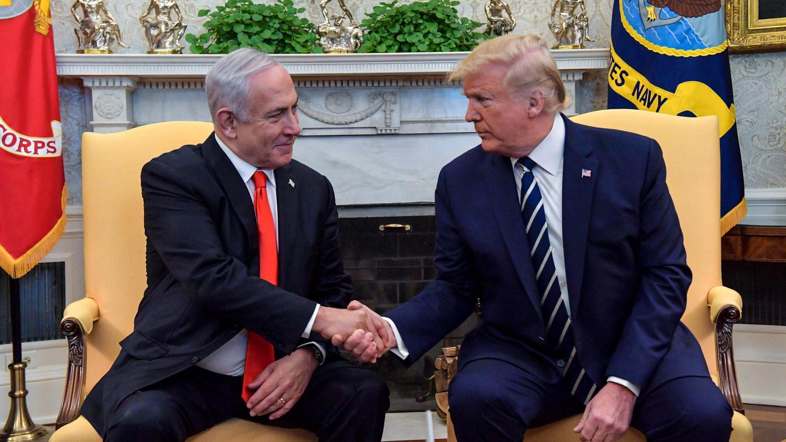 Netanyahu i Trump a Washington al gener del 2020
