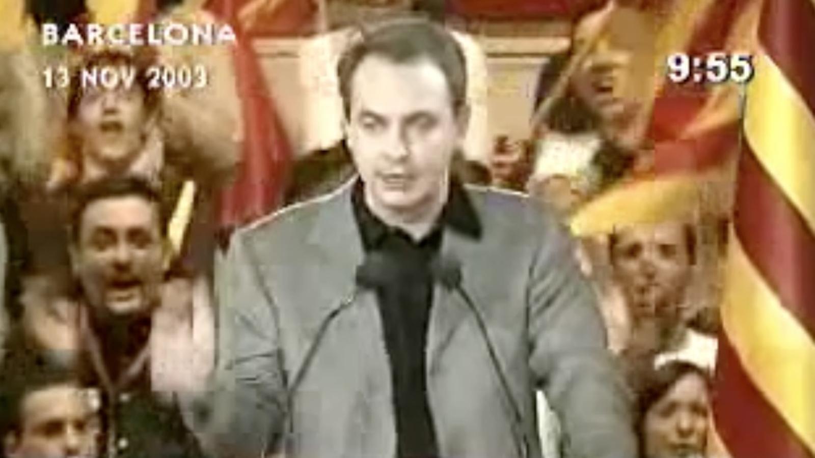 La promesa de Zapatero sobre l'Estatut català