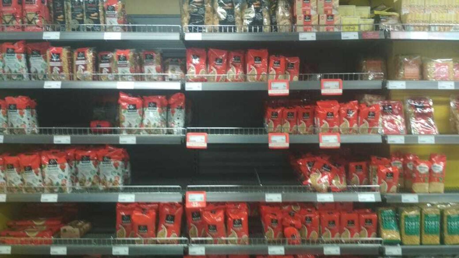 Una secció d'un dels supermercats del país. / E. C.