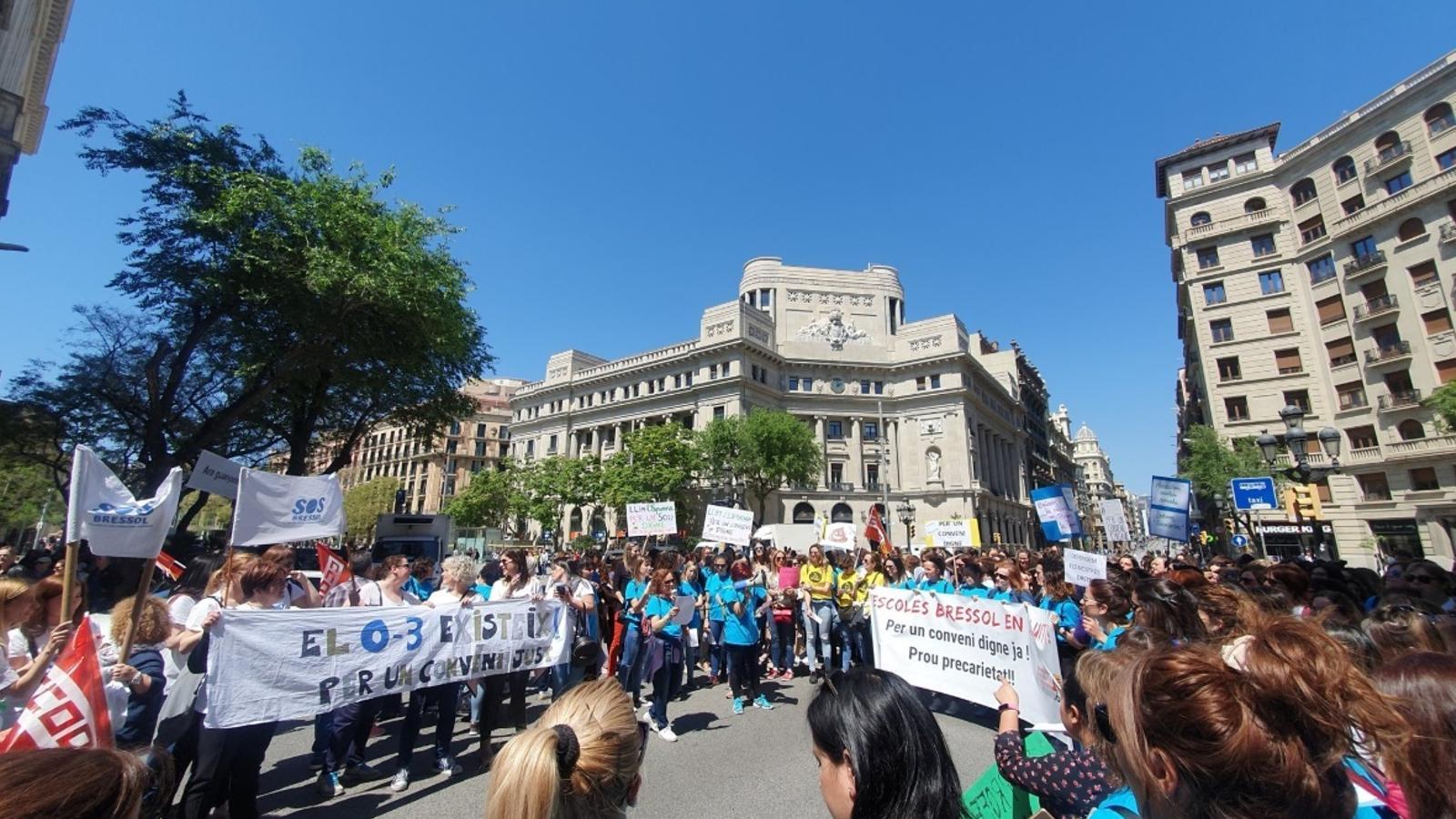 CCOO xifra en un 80% el seguiment de la vaga a les escoles bressol