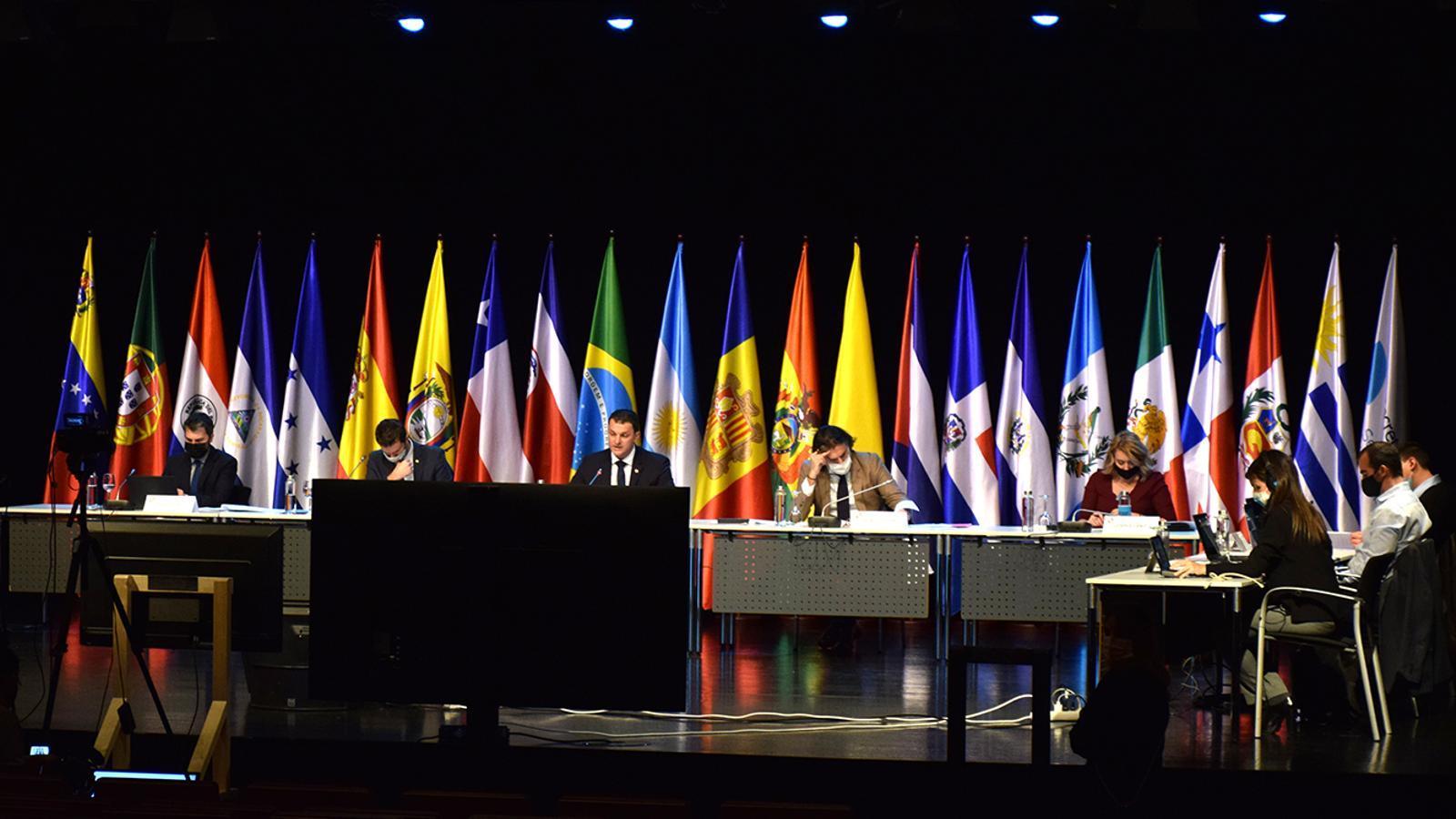 Un moment de la celebració de la IV Reunió de ministres i altes autoritats iberoamericanes de Ciència, Tecnologia i Innovació. / M. F. (ANA)