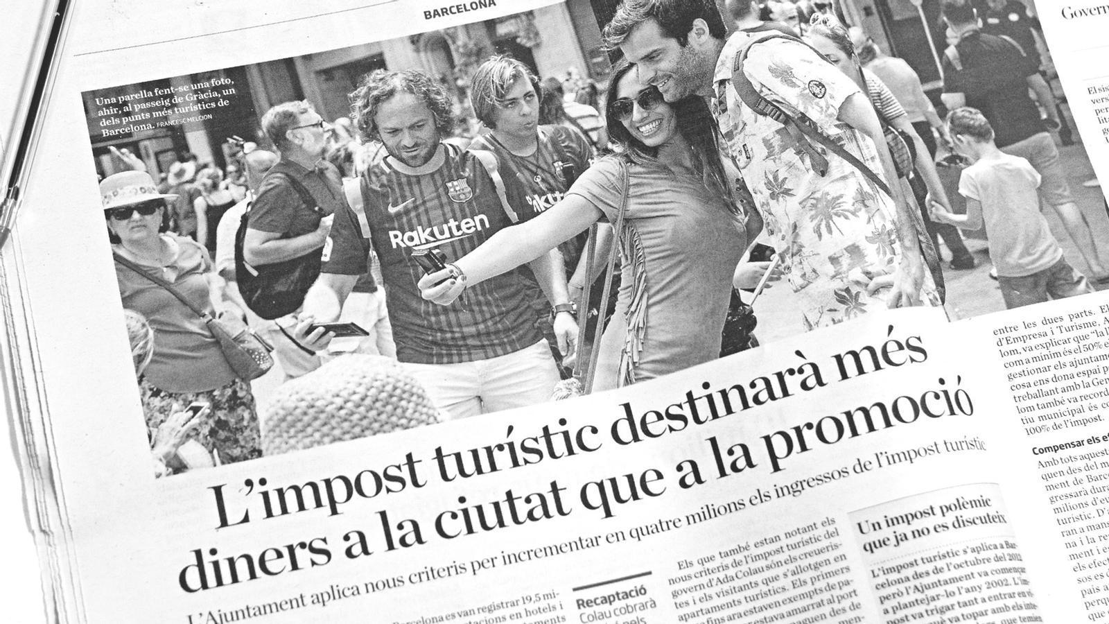 L'anàlisi d'Antoni Bassas: 'Turisme a Barcelona, entre la catifa vermella i l'odi'