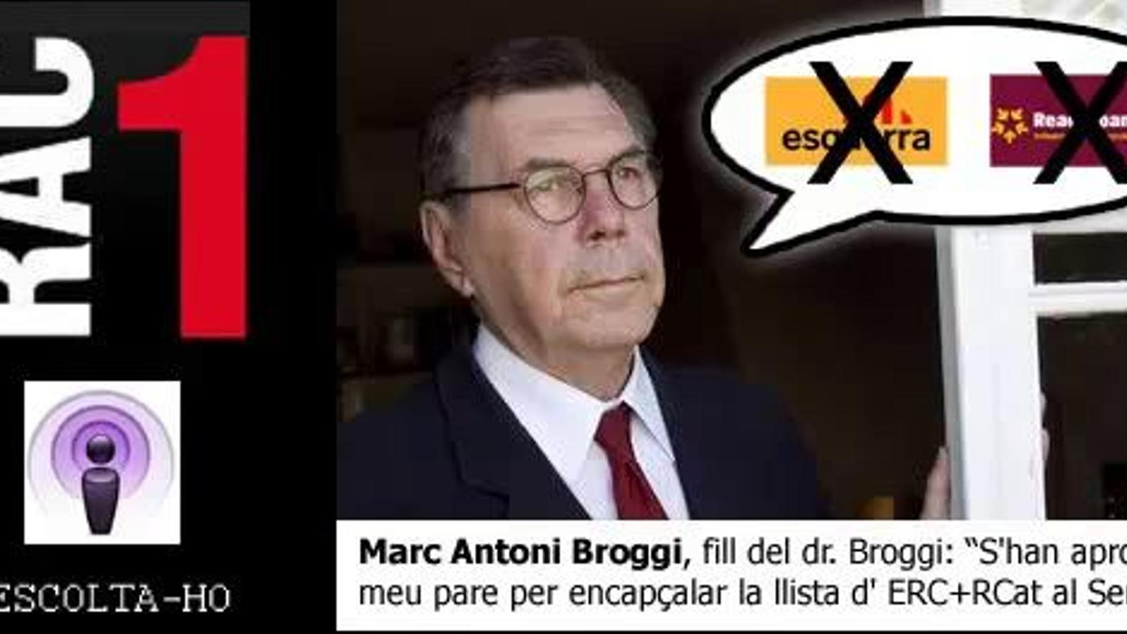 El fill de Moisès Broggi veu aprofitament en la decisió d'ERC, Rcat i Catalunya SÍ de fer-lo candidat