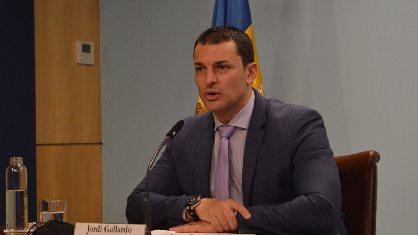 El ministre Jordi Gallardo. / M. F. (ANA)