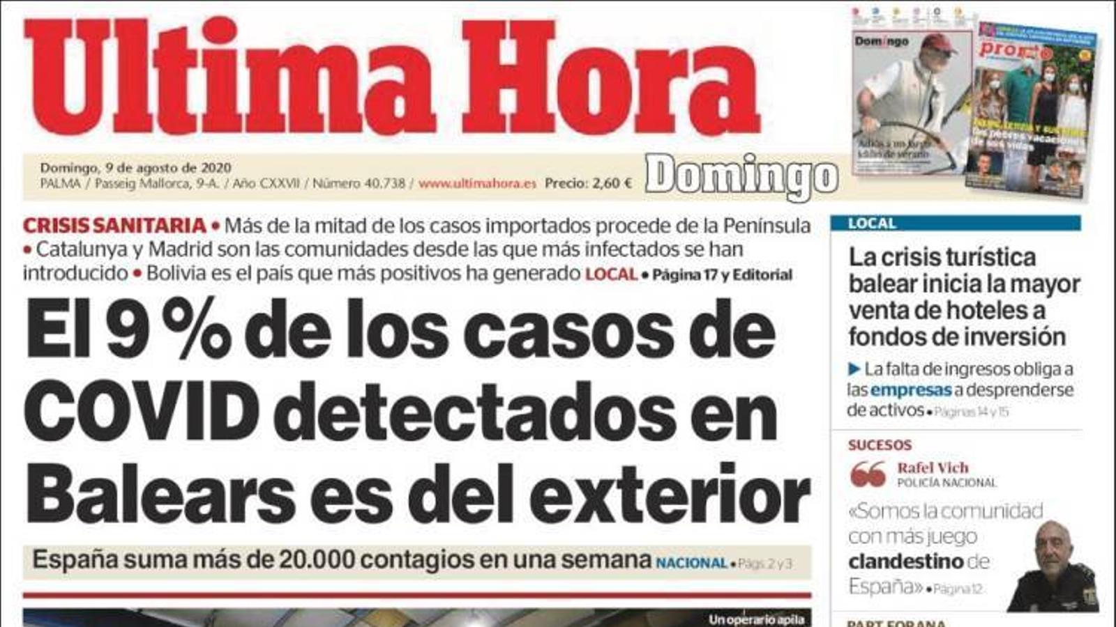 """""""Pablo Casado: «Felip VI és el millor cap d'estat que pot tenir Espanya i el defensarem»"""", portada de l''Abc'"""