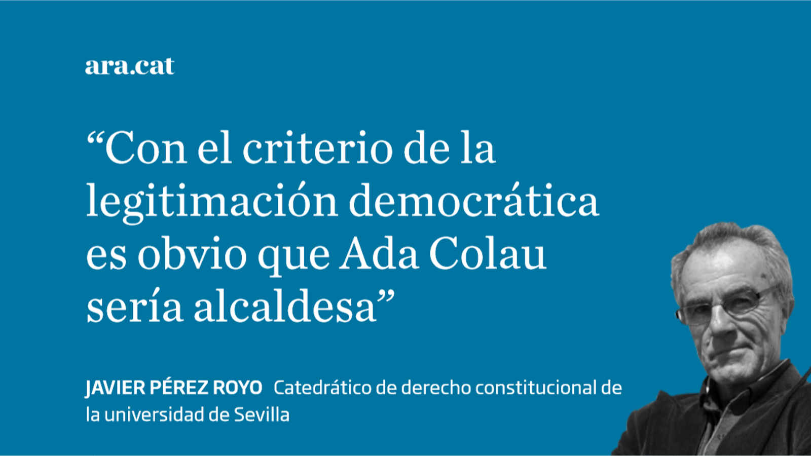 ¿Legitimidad democrática o ley electoral?