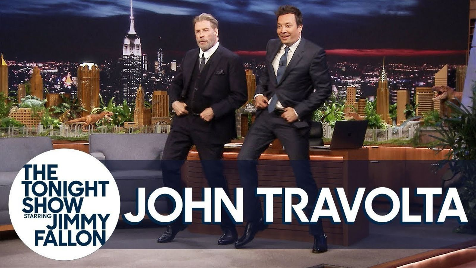 John Travolta al programa de Jimmy Fallon