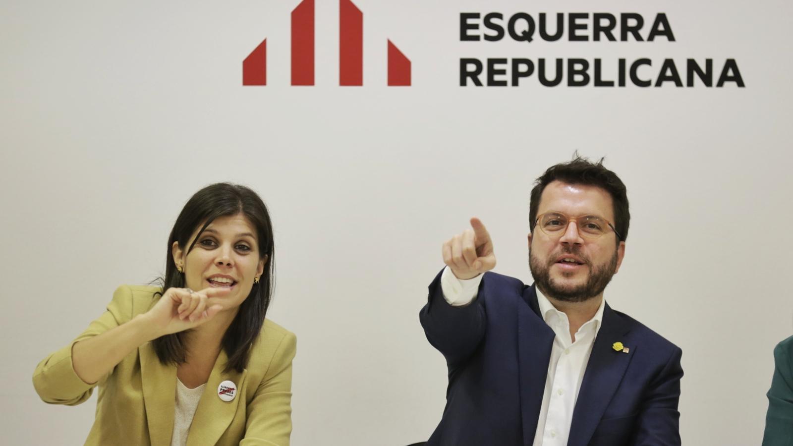 Primera reunió de la nova executiva d'ERC encapçalada per Marta Vilalta i Pere Aragonès