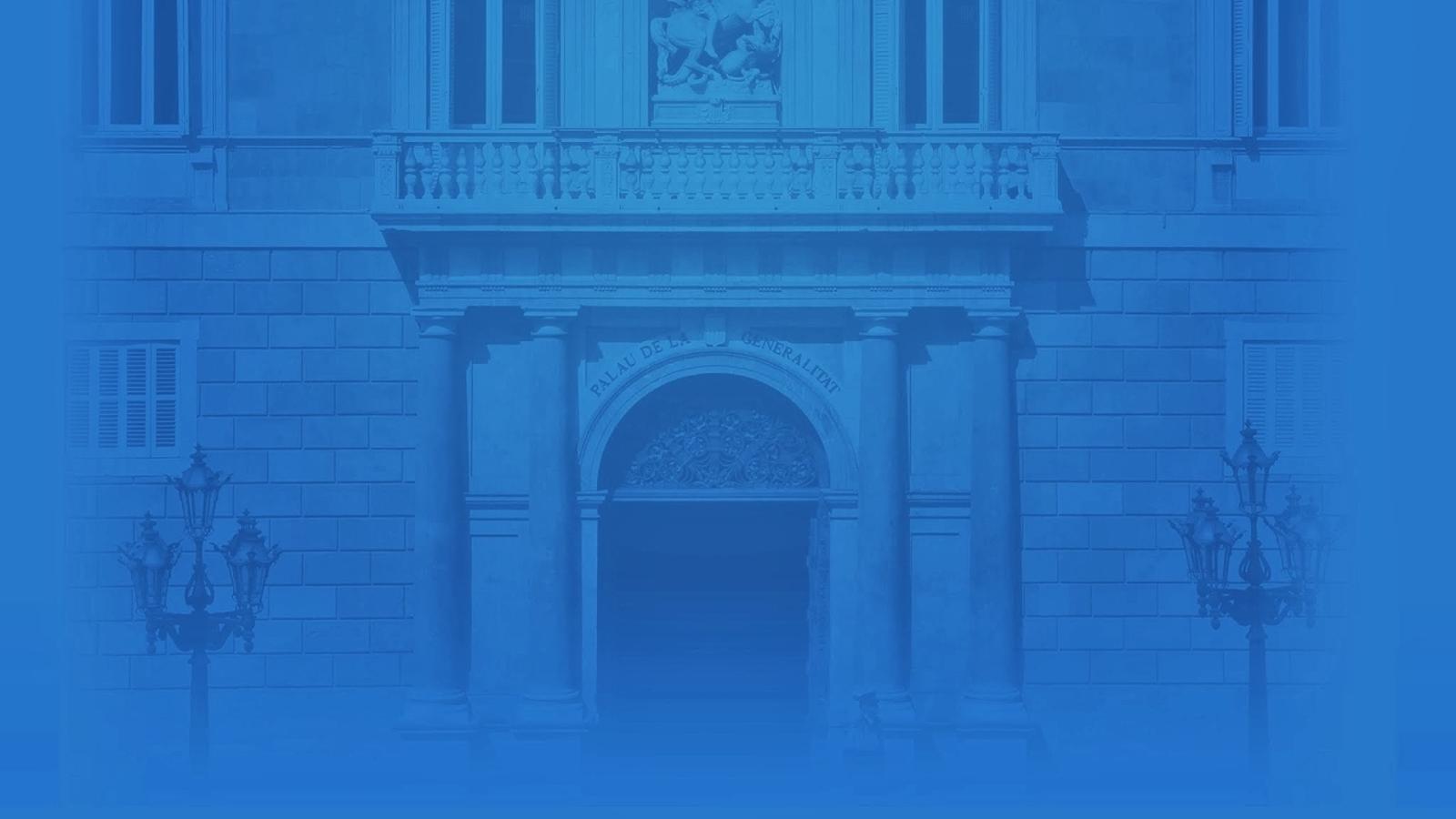Declaració institucional del president de la Generalitat