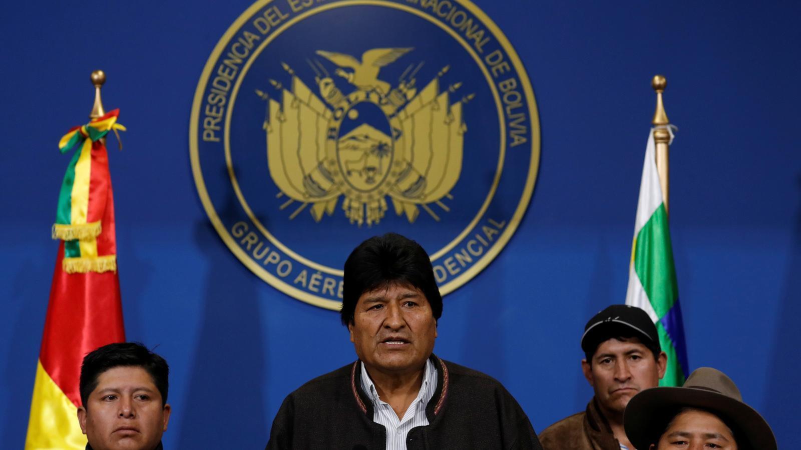 Evo Morales dimiteix
