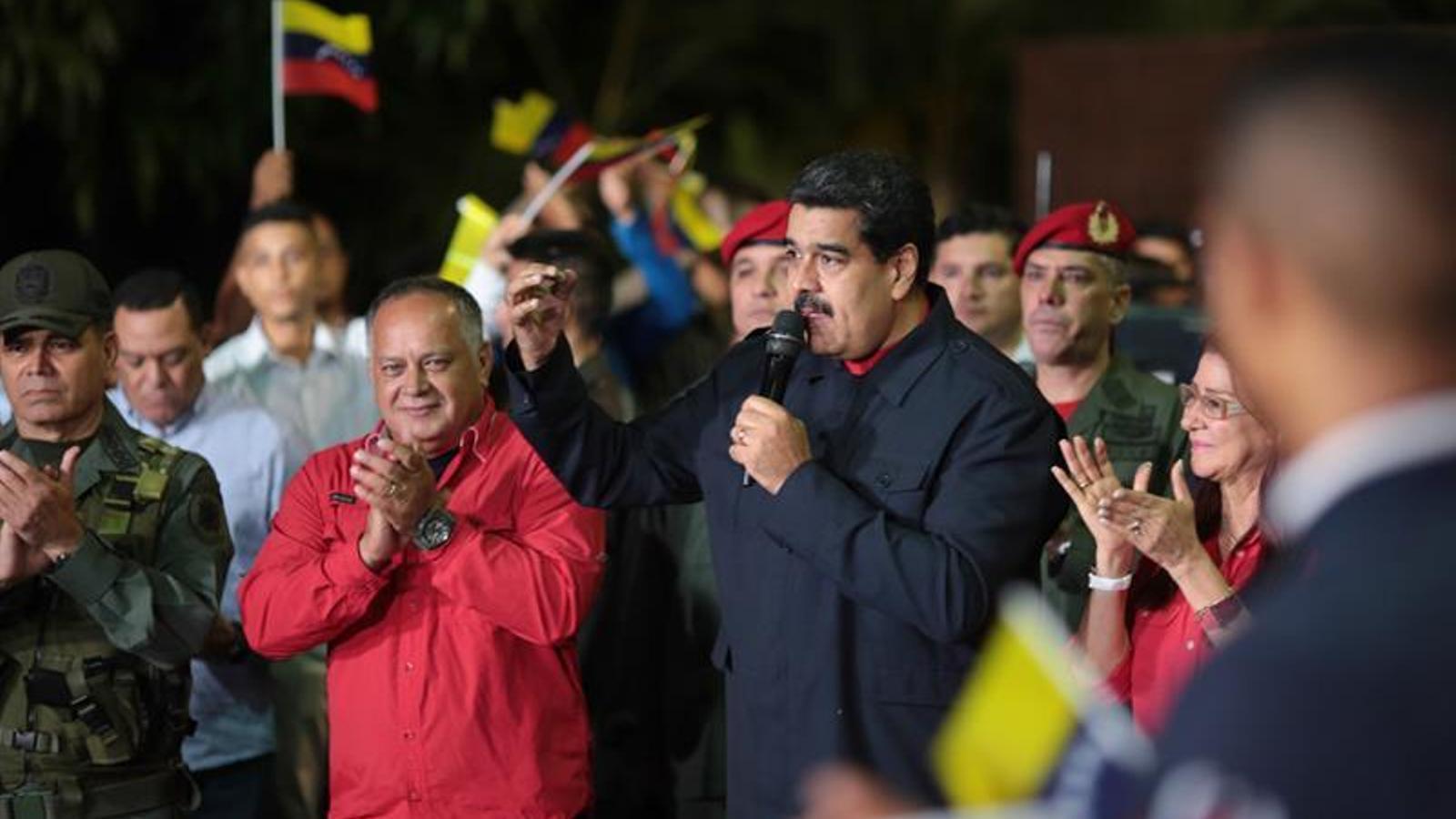 Un Maduro triomfant anuncia la victòria del chavisme a les regionals. / GOVERN DE VENEÇUELA / EFE