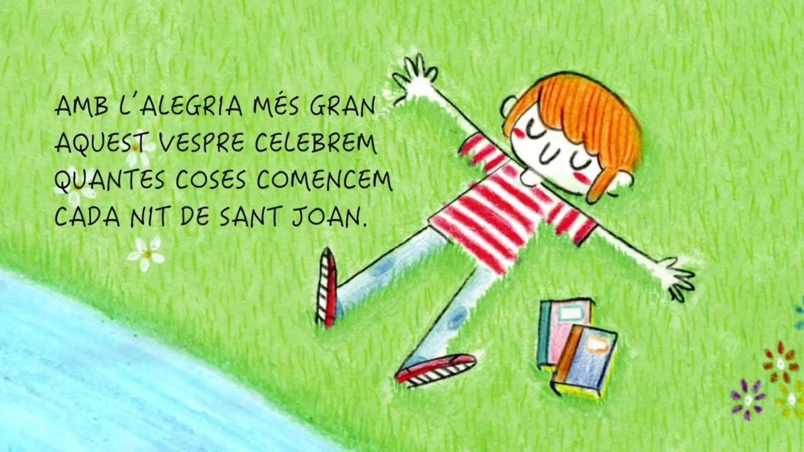 'La revetlla de Sant Joan', el llibre infantil de Care Santos i Dani Cruz, amb l'ARA