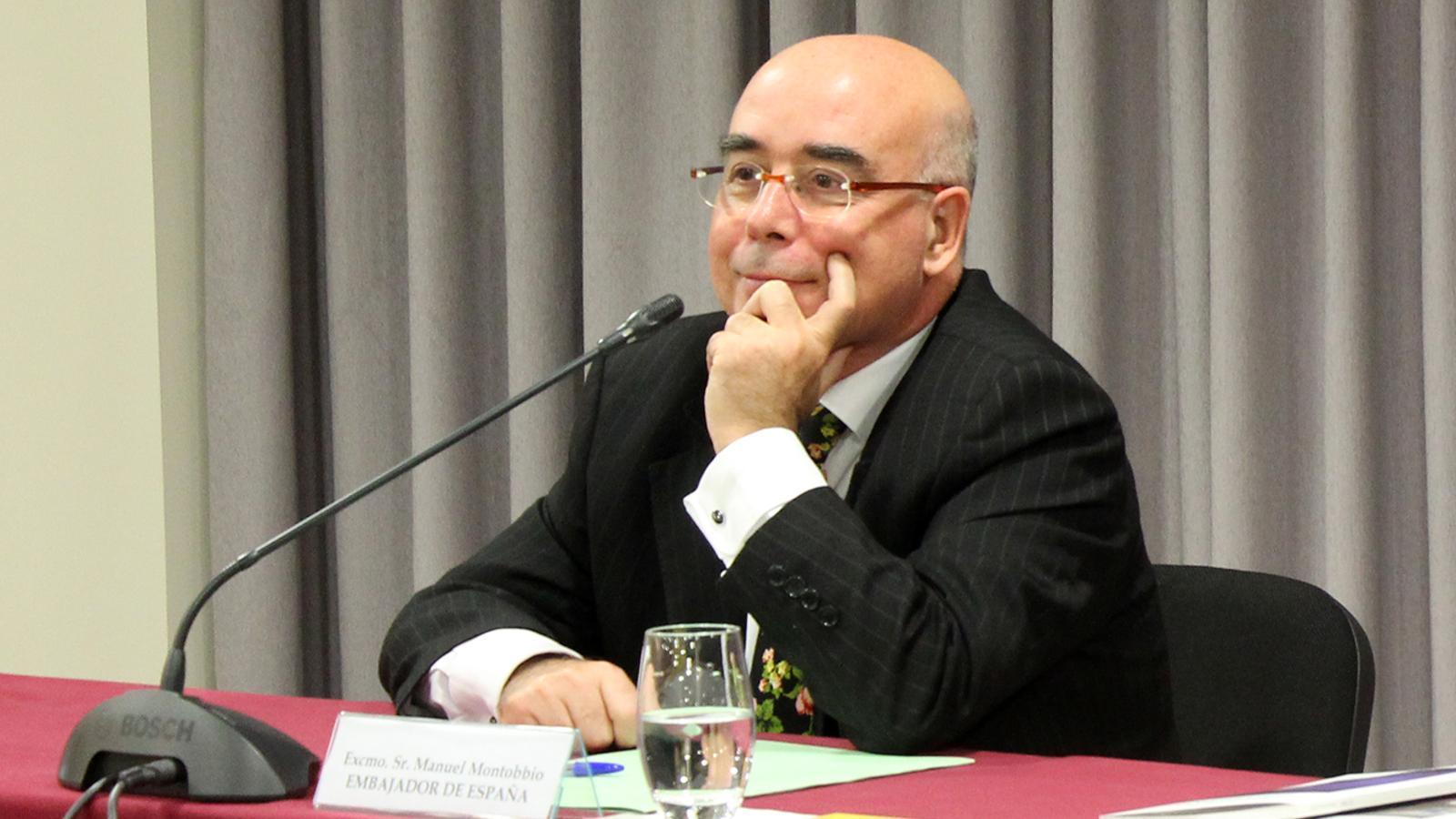 L'ambaixador d'Espanya a Andorra, Manuel Montobbio, durant un acte del passat mes de novembre. / M. M. (ANA)