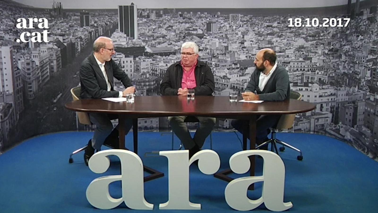Entrevista d'Antoni Bassas a Marcel Mauri i Agustí Alcoberro (18-10-2017)